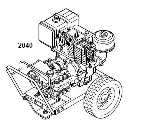GRACO 2040 (800699) Pressure Washer Parts, Breakdown