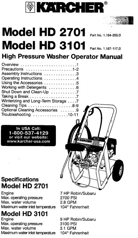 HD3101 DR Owners Manual