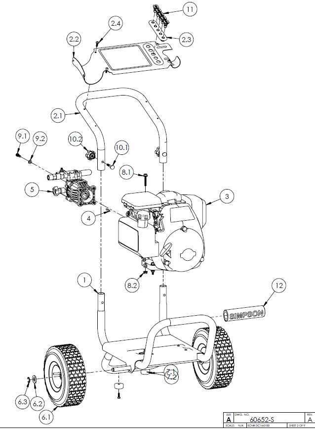 SIMPSON® MS31025HT Pressure Washer Parts, Accessories