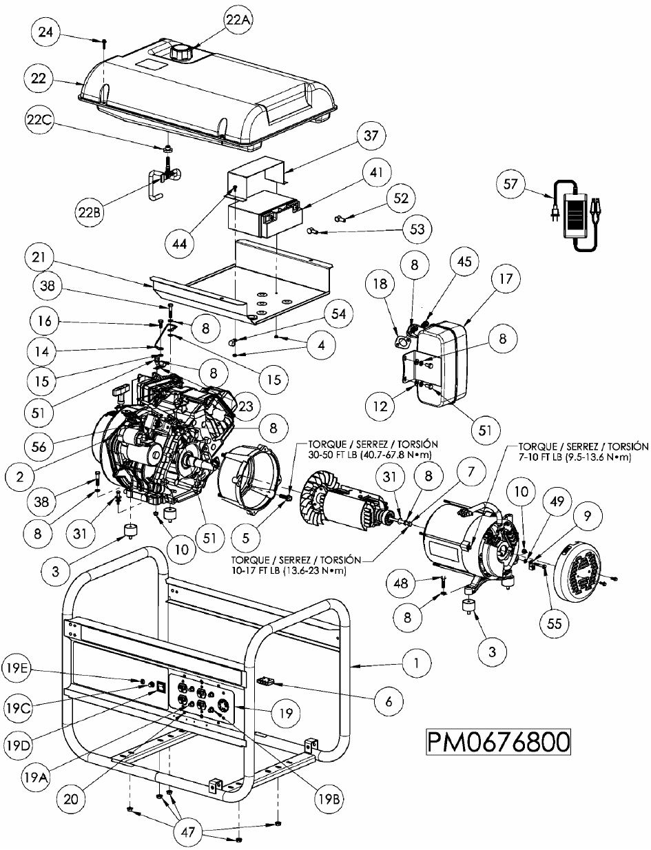 Briggs And Stratton 5000 Generator Wiring Diagram
