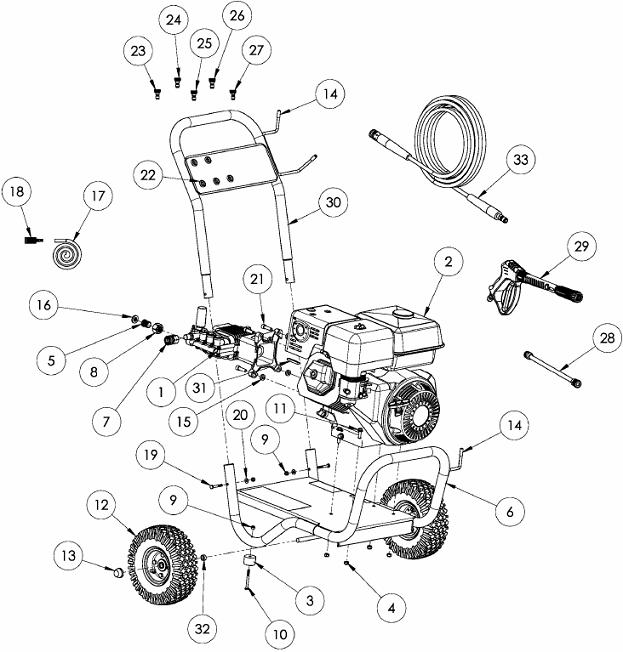 Generace Pressure Washer model 5995,5996 replacement parts