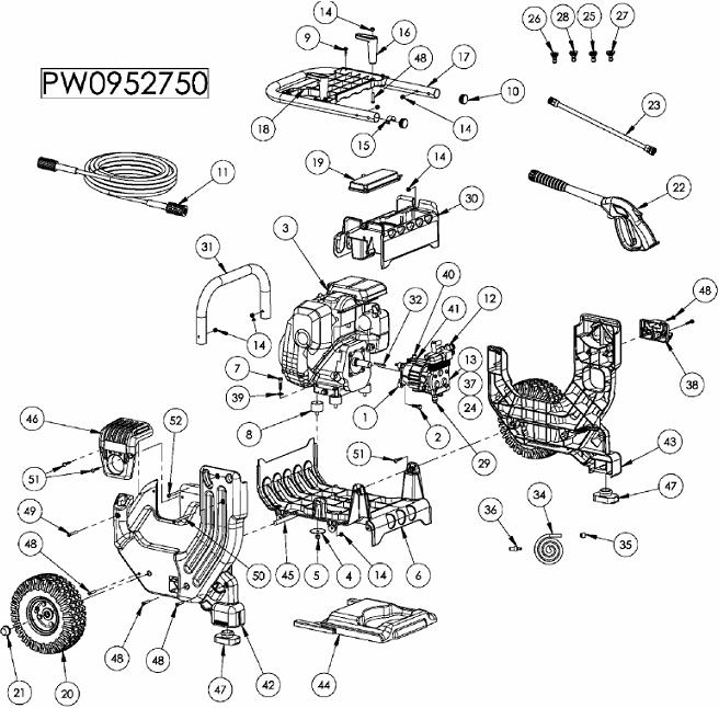 Coleman Powermate Pressure washer model PW0952750