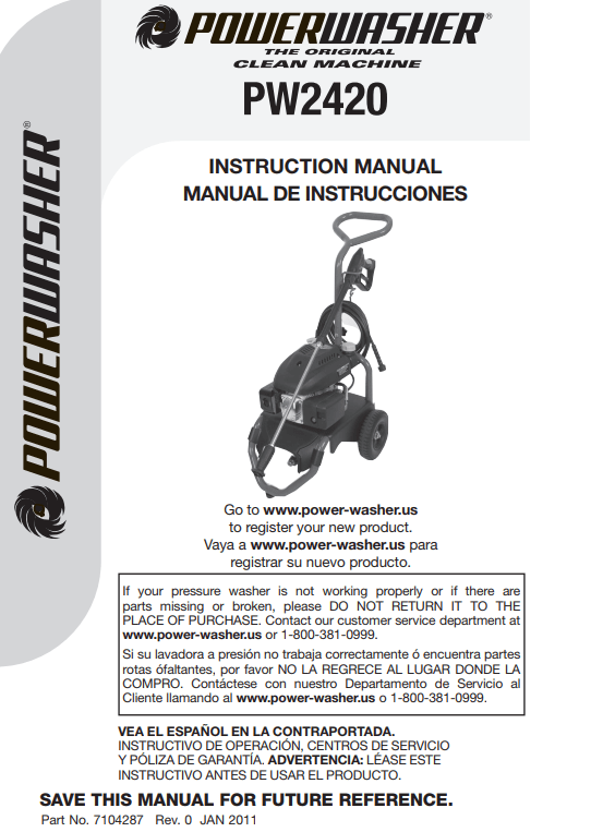 PW2420 Owners Manual