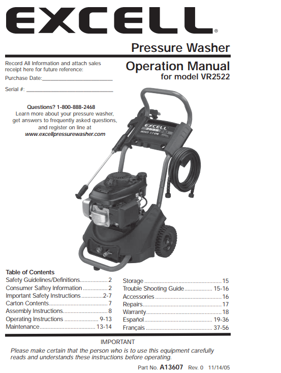 VR2522 Owners Manual
