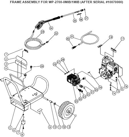 AC-2700GH Pressure Washer PARTS, Manual & Breakdowns