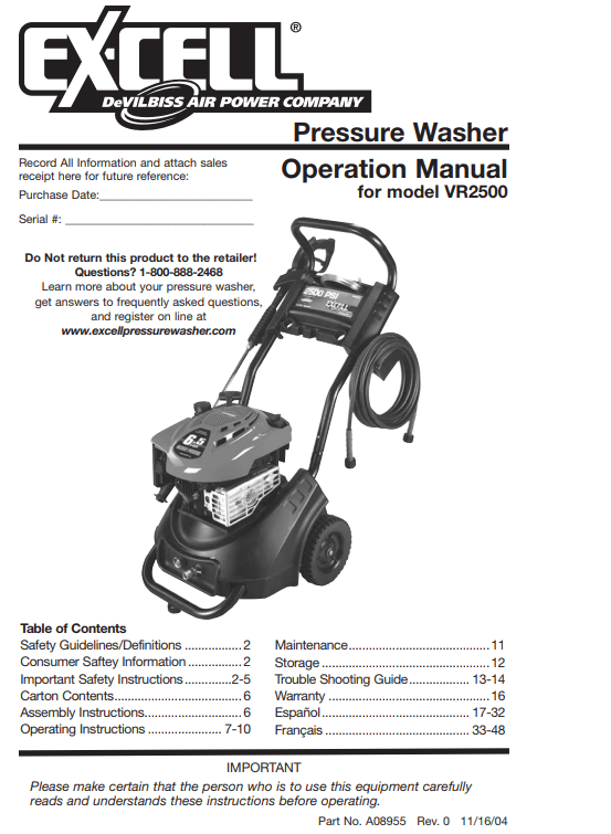 WVRH2421 Owners Manual