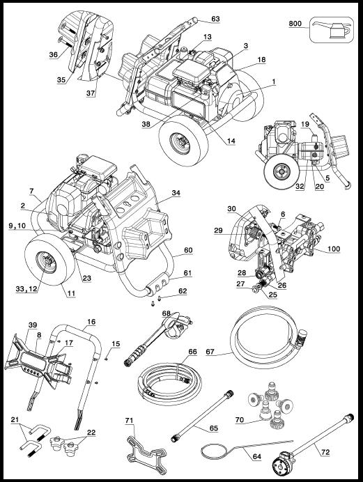 XR2625 Pressure Washer Replacement Parts