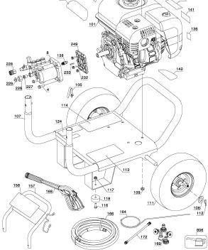 BDP2600-2 Pressure Washer Replacement Parts, breakdown