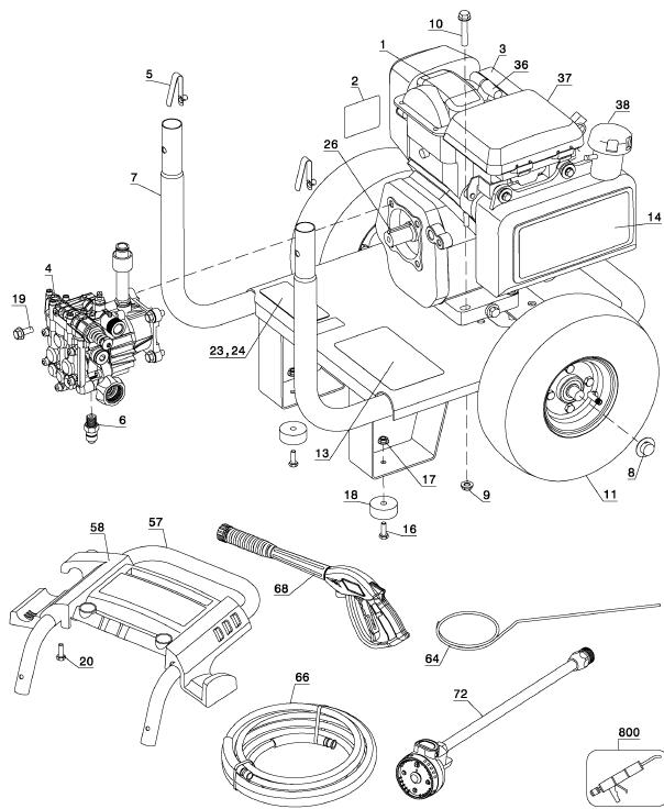Pressure Washer Motor Diagram Motor Repalcement Parts And