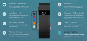 Fitbit Charge HR Technical Specifications
