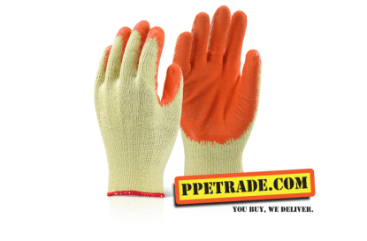 economy gripper gloves orange