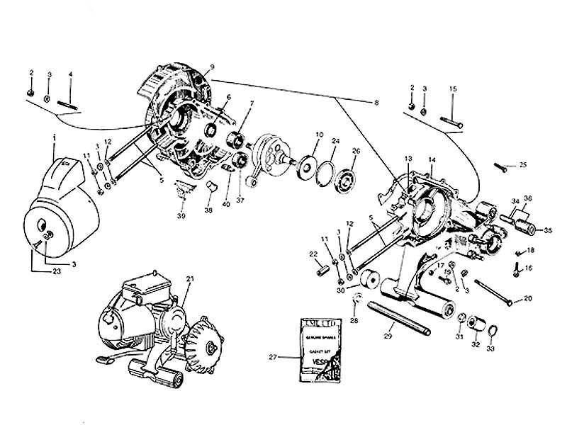 VESPA PIAGGIO MOTORGEHÄUSE MASTER PINASCO–PX 80-177