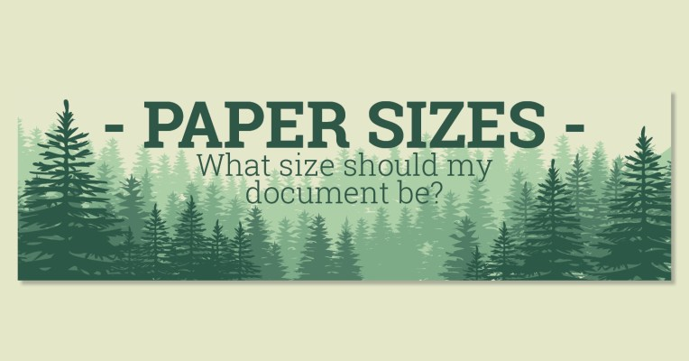 paper sizes what size should my document be setup for print
