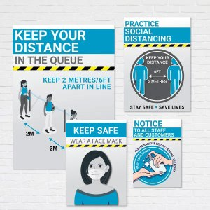 4 heath and safety posters