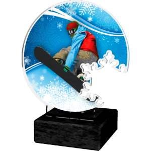 Akrylstatuett Snowboard 1