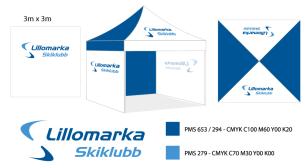 PopUp3x3 Lillomarka Skiklubb Skisse - Lillomarka Skiklubb