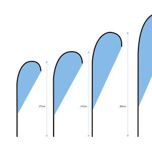 Beachflagg Dråpe 1