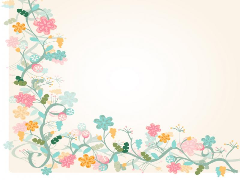 Cute Vintage Floral Wallpaper Floral Border Photo Backgrounds For Powerpoint Templates