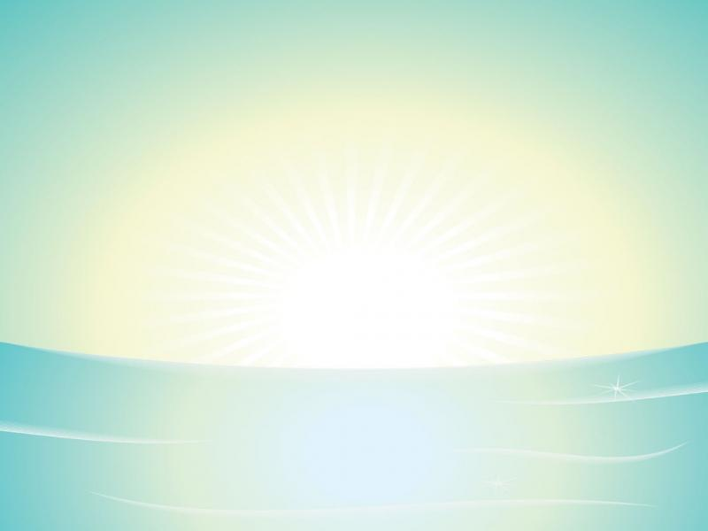Sunshine Light Backgrounds for Powerpoint Templates  PPT