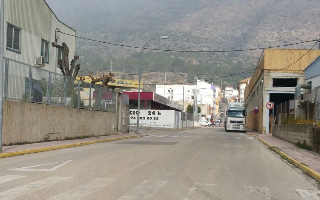 Compromís perd una subvenció de 200.000 euros per a millores en un polígon industrial
