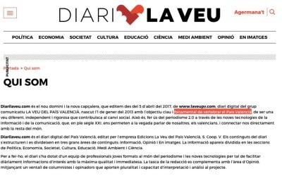 El Partit Popular de Tavernes denuncia que el Govern de Compromís estiga finançant un web catalanista