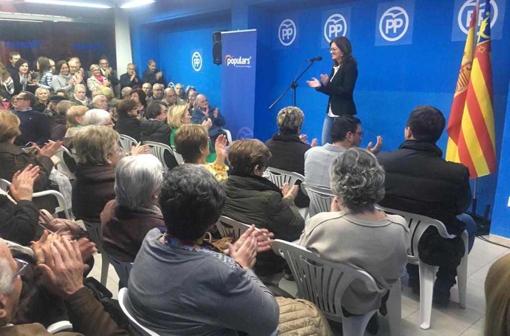 Els Populars de Tavernes presenten a Eva Palomares com a candidata a l'alcaldia i inauguren nova seu en un acte multitudinari