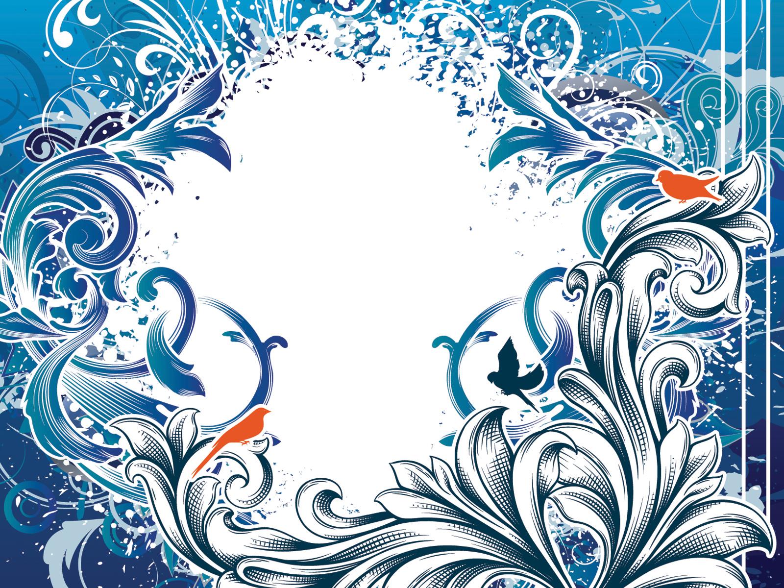 hight resolution of blue vintage design frame cliparts download background