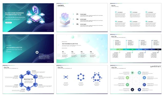 Blockchain Business Startup Free Google Slides Theme And