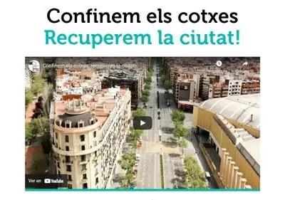 Campaña vídeo «Confinem els Cotxes. Recuperem la ciutat!»