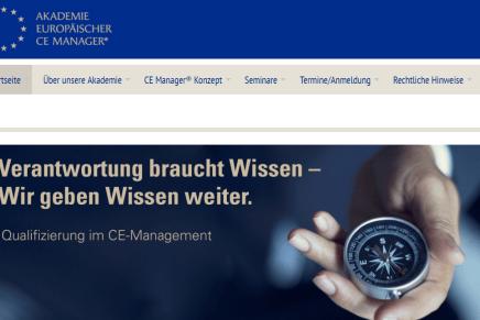Akademie europäischer CE-Manager präsentiert neue Website
