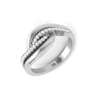 Warm Wrap Ring In Silver