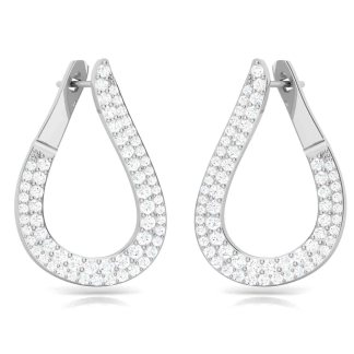 Overall Studded Statement Hoop Earrings