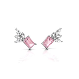 New Design Pink Stone Dazzles Earrings