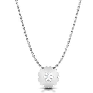 Magical Flower Necklace In Silver