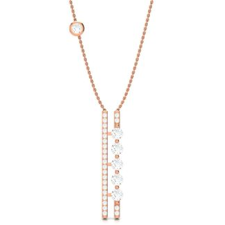 The Rose Gold Sticks And Stones Necklace