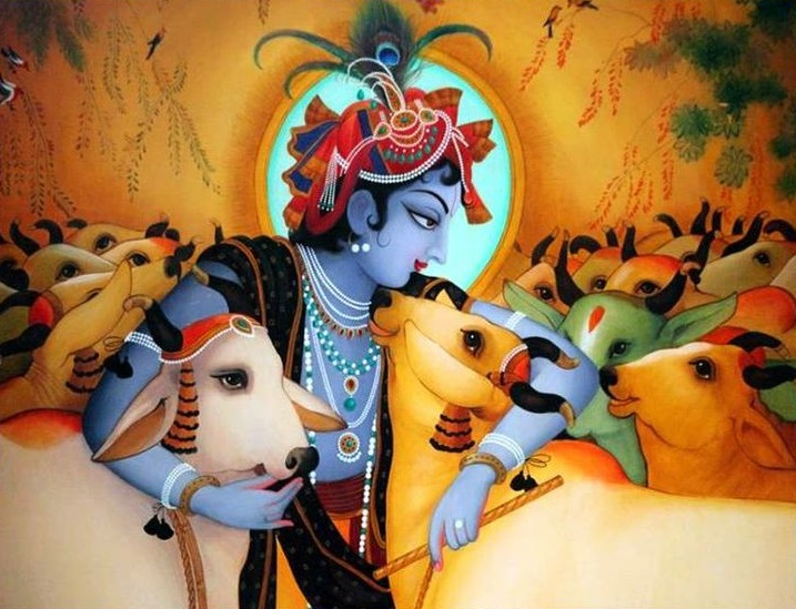 3d Wallpaper For Home Wall India Dog Is Protected And Cow Is Killed