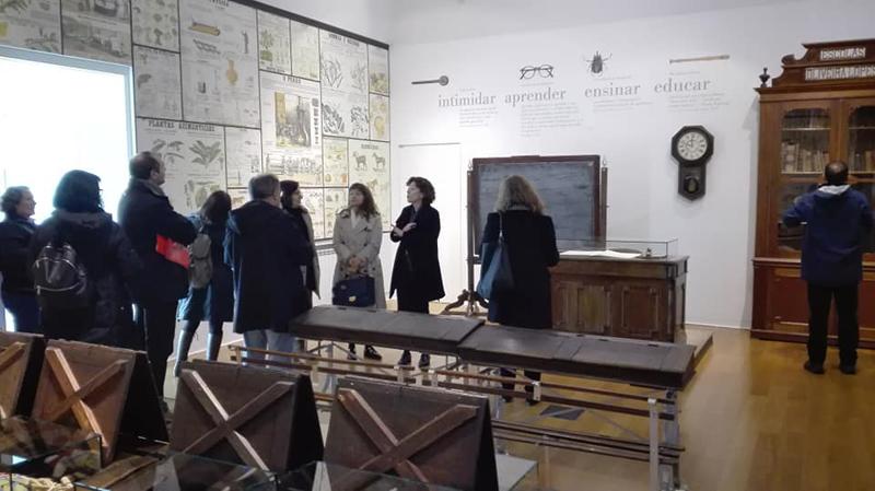 Equipa de coordenação da Rede de Bibliotecas de Ovar visitou o Museu Escolar Oliveira Lopes