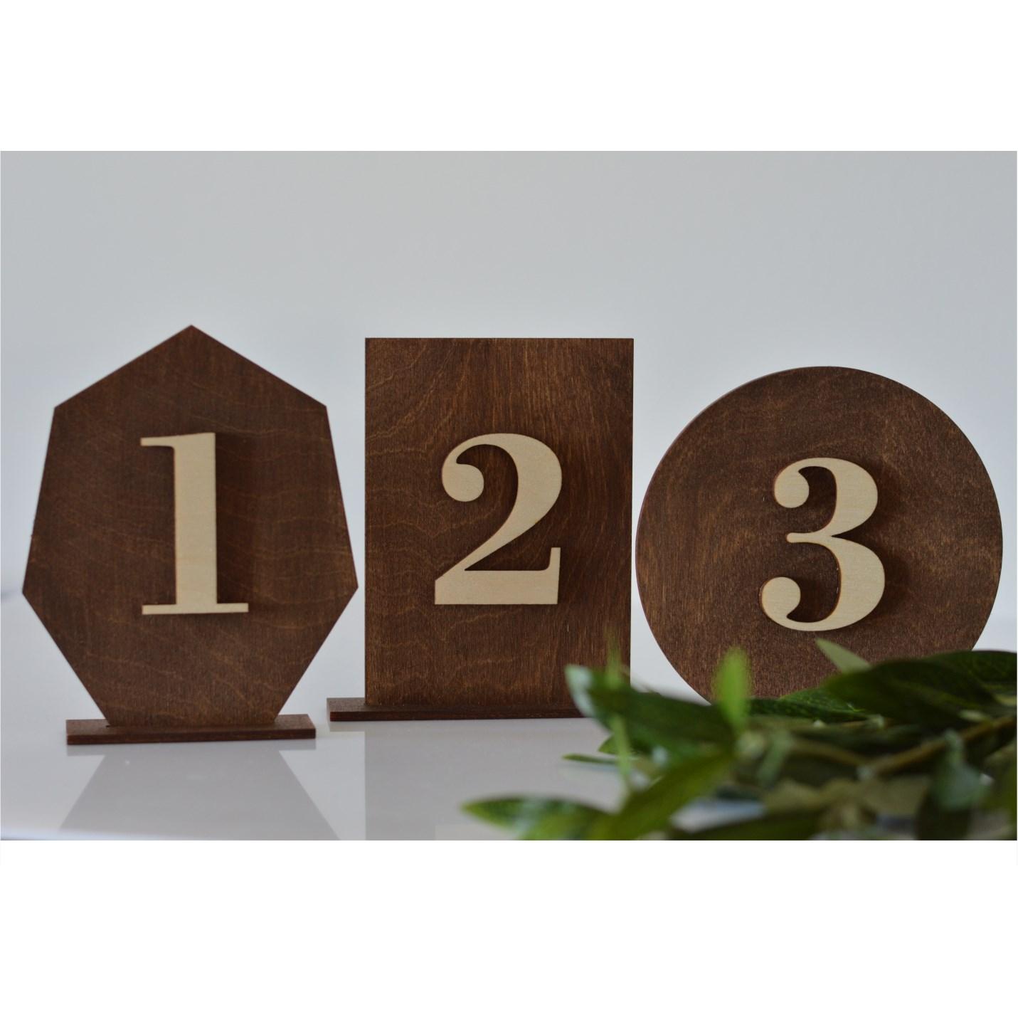 rustykalne numerki na stoły
