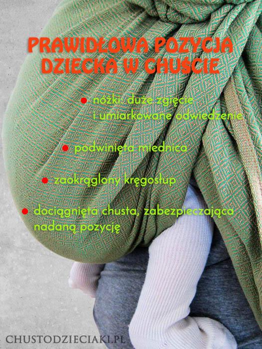 Prawidłowa pozycja noworodka w chuście