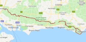 South Down Way Map