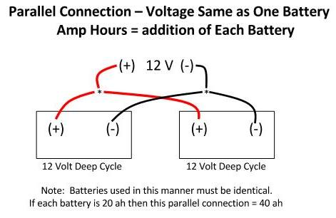 24 volt battery battery connections