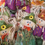 scarecrows and straw