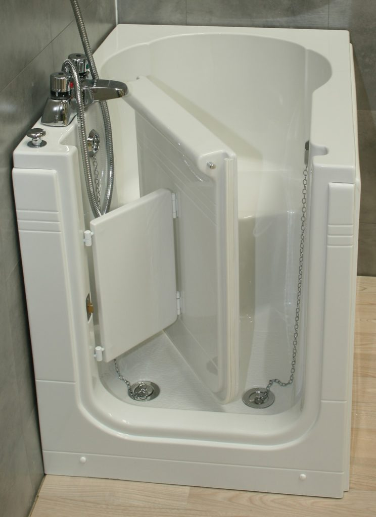 Sierra Compact front entry sitting bath Practical Bathing Ltd