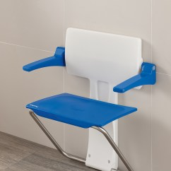 Folding Chair For Bathroom Revolving Accessories Slimfold Shower Seat Stylish Seating Practical