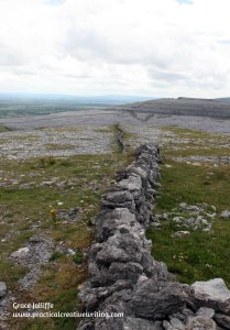 long wall on Abbey-Hill in Galway illustrating an article about creative writing activities