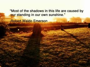 shadows on a field illustrating an article about writing which includes a free gift of a creative writing tracker