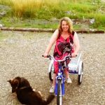 woman on a trike