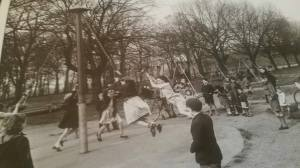 Kids on maypole in 1970s Liverpool illustrating an article about the Liverpool born writer Grace Jolliffe