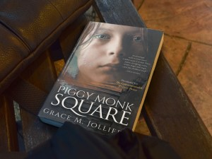book cover of Piggy Monk Square by Grace Jolliffe illustrating an article on SEO for writers