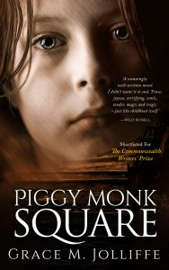 book cover of Piggy Monk Square by Grace Jolliffe illustrating an article about choosing a book cover